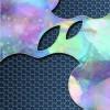 光に浮かぶ林檎なiPhone壁紙