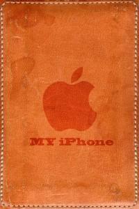 レザーなiPhone壁紙